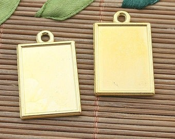 6pcs gold color rectangle picture frame h3994