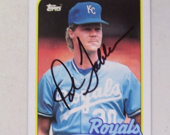 Pat Tabler Autographed Baseball Card, Kansas City Royals, Vintage Topps 56
