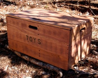 Wooden Crate Toy Chest/ Large Storage Box from Reclaimed Wood
