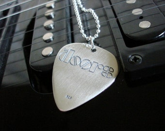 Silver Guitar Pick - Doors