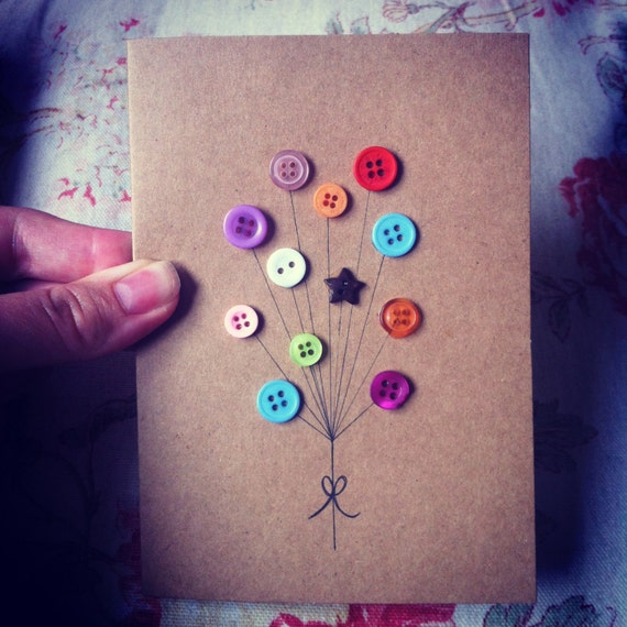 Diy Handmade Card Ideas: Items Similar To Handmade Greeting Card