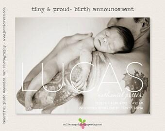 Printable Birth Announcement- Tiny & Proud