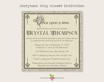 Storybook Baby Shower Invitation