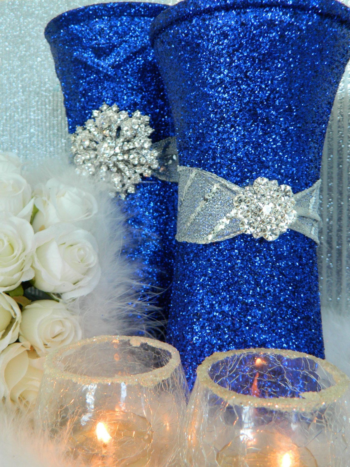 Navy blue wedding decorations romantic decoration