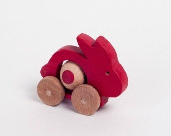 Wooden animals, wooden toys, wooden rabbit, kids toy, toddler gift, wood toy, toddler toy, waldorf toy, wood animal toy, educational toy