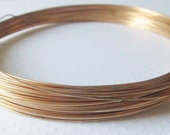 Phosphor Bronze Wire, 22 gauge, Half Hard Temper for Wire Wrapping, 50 Feet