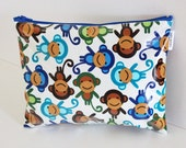 Monkey zip pouch / travel wet / dry bag made from waterproof material