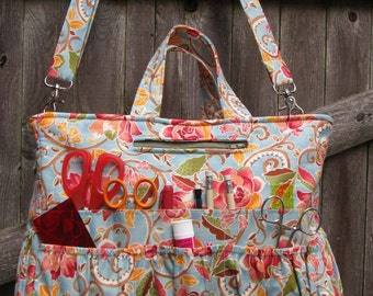 Organizer Tote with 46 Pockets PDF Sewing Pattern (LJ105)