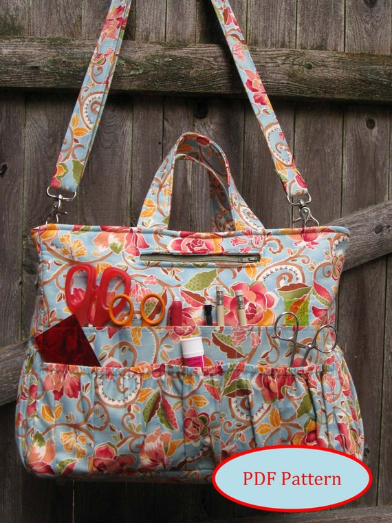 Organizer Tote With 46 Pockets Pdf Sewing Pattern Lj105