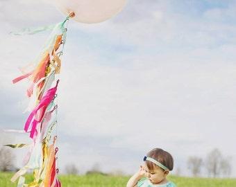 BLUSHING PASTELS - 5 FT. Tissue Paper Tassel Tower - Balloon Tassels - Party - Wedding