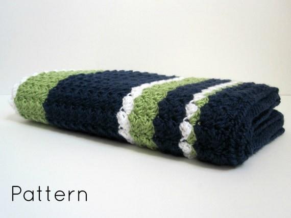 Preppy Baby Reversible Crochet Blanket Pattern