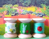 "Washi Tape Mini Spool Bouquet ""Happy Garden"""