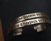 """Sherlock  You're the Sherlock To My Watson"""" """" You're the Watson to My Sherlock"""""""