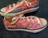 Hand-painted One Direction on Converse shoes