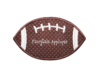Digital Machine Embroidery Design -  Football Applique