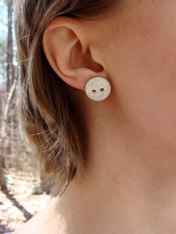Polished Stone Studs by ChatterBlossom