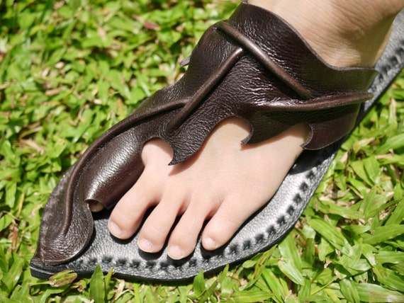 Awesome Greased Vachetta Leather Women Sandals With Leather Sole Handmade