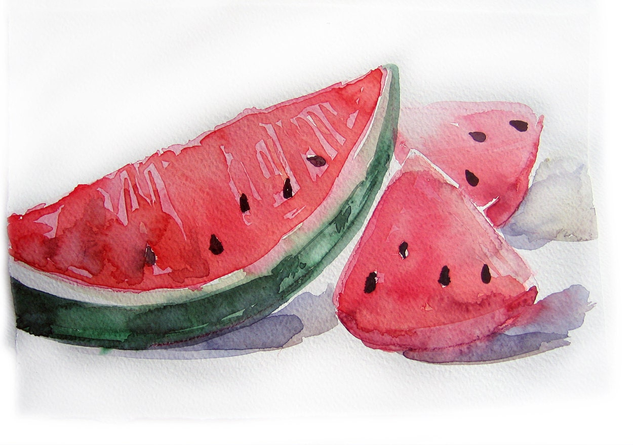 Watermelon Painting Watercolor Painting Of Watermelon Art