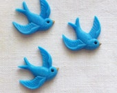 Fondant Blue Bird cupcake toppers, cake toppers, decoration for cakes, party favor