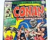 Conan the Barbarian -- Comic Book Marvel Comics Group Vol. 1, No. 73, April 1977