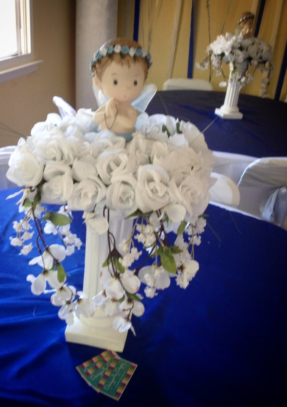 Baptism centerpiece cross standing