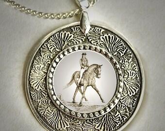 Dressage Horse Pendant