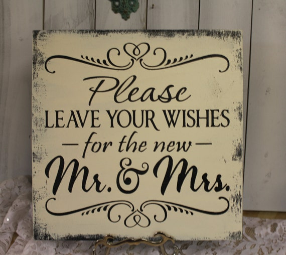 Cute Wedding Guest Book Ideas: Items Similar To Guest Book/Please Leave Your Wishes For