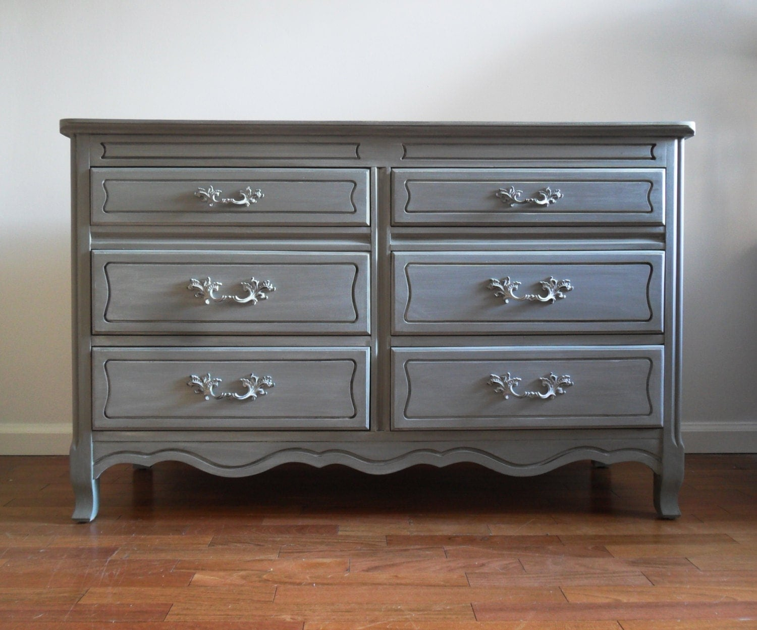 Grey Changing Table Dresser