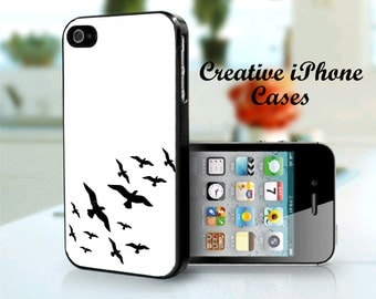 iPhone 5C case Black Birds iPhone 4 Case, iPhone 4S Cases, iPhone 5, iPhone 5S, iPhone 5C