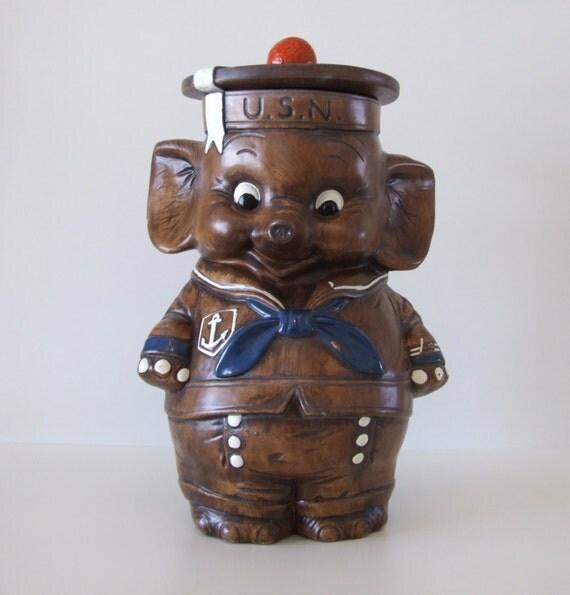 Treasure craft usn elephant cookie jar - Vintage elephant cookie jar ...