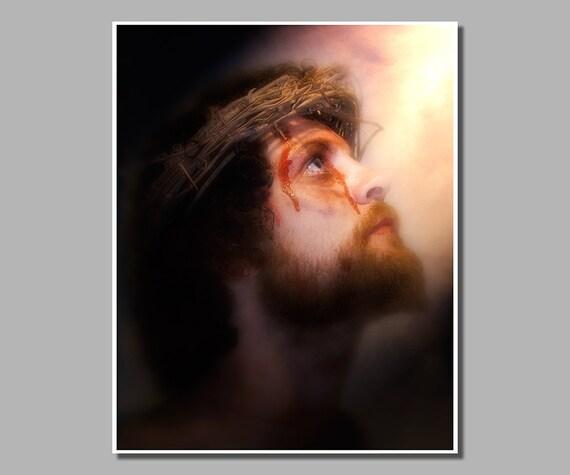 Jesus - On the Cross - Easter Art - Religious Wall Art