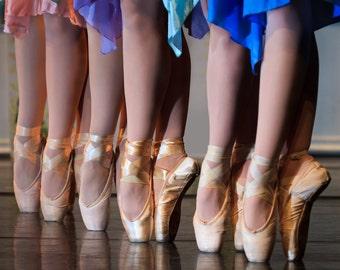 "Ballet Dancers Photo Print, Art Photography ""En-Pointe"", 8x12 Photograph, Nursery Wall Art"