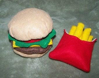 Felt Food Hamburger & French Fry Set