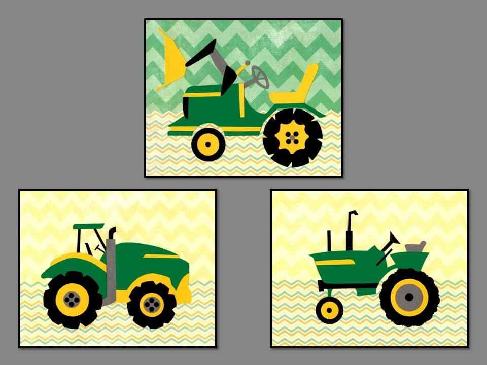 Tractor Nursery Decor, Yellow Popular Items For Tractor John Deere On Etsy
