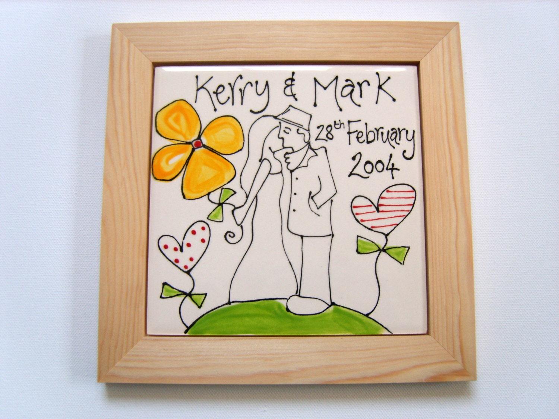 9th Wedding Anniversary Gift Ideas Her: Personalised Wedding And 8th Or 9th Wedding Anniversary