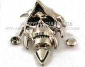 5pcs 53x36mm Silver Steampunk Skull Rivet Studs,Badge Concho Rivets Buttons For DIY Finding Accessories,cloth Accessories