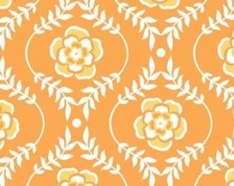 Riley Blake Fabric by the Yard Decadance Damask Orange, 1 yard, Discontinued by Manufacturer