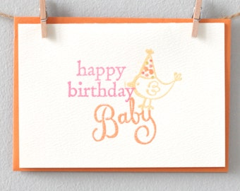 Birthday card - Happy Birthday Baby
