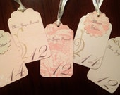 RESERVED LISTING for Joyce Freund - 42 Personalized Escort Cards / 10 Menu Cards