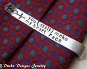 Personalized Tie Clip Hidden Message Monogram custom tie bar