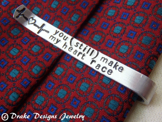 Personalized Tie Clip Secret Message Custom Tie Bar With