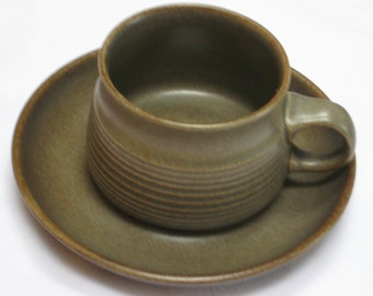 "Denby ""Sherwood"" Cup and Saucer"