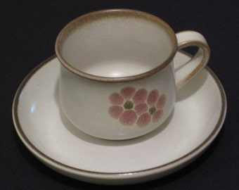 "Denby ""Gypsy"" Cups and Saucers - Set of Four"
