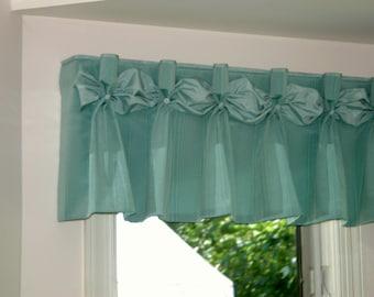 "Pleated DANIELLE  Hidden Rod Pocket® Valance fits 45""- 62"" window, Custom made using your fabrics, my LABOR and lining"