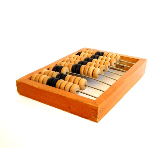 Vintage Russian kids toy - wooden ABACUS