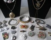 SALE/ Vintage lot costume jewelry designer signed