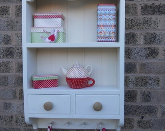 shabby chic wall unit and drawers