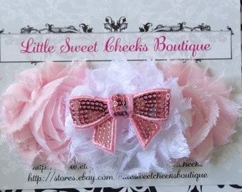 baby headband, baby girl headband, newborn headband, chiffon headband, flower headband, baby shower