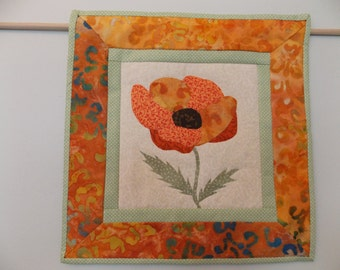 Colorful Poppy Mini Quilt