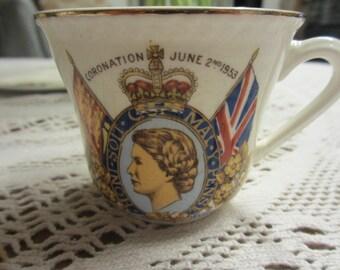 Vintage Coronation Cup Queen Elizabeth June 2nd 1953